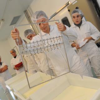 Atelier fromager à l'ENIL de Saint-Lô Thère - Caillé