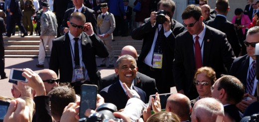 Barack Obama à Coleville-sur-Mer pour la cérémonie du 70e anniversaire au cimetière américain
