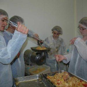 Fabrication de compote de pommes